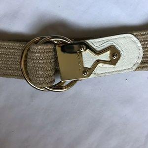 Michael Kors Woven White Belt